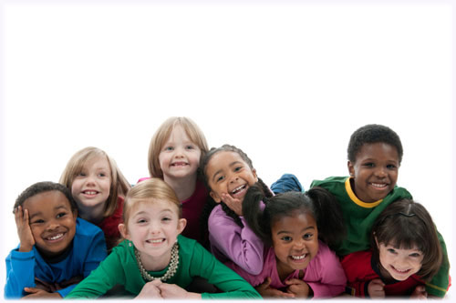 Group of Children Smiling and Posing for the camera